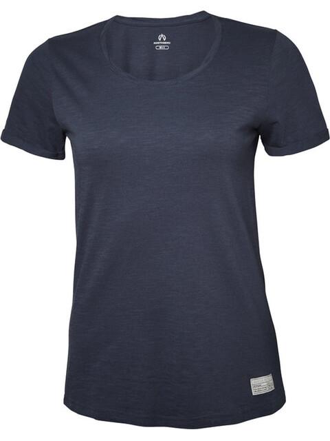 North Bend Slub t-shirt Dames blauw